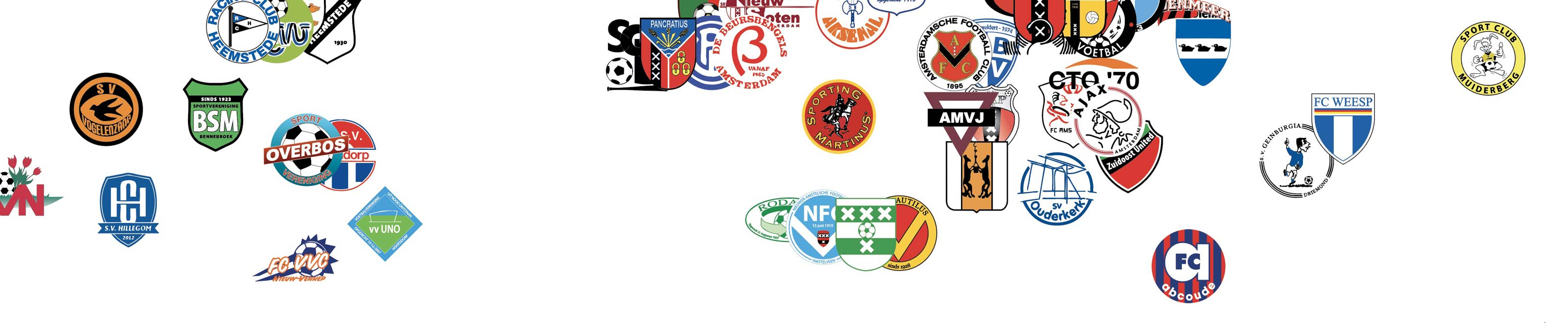 cropped poster Dutch football clubs with Amsterdam teams like Ajax